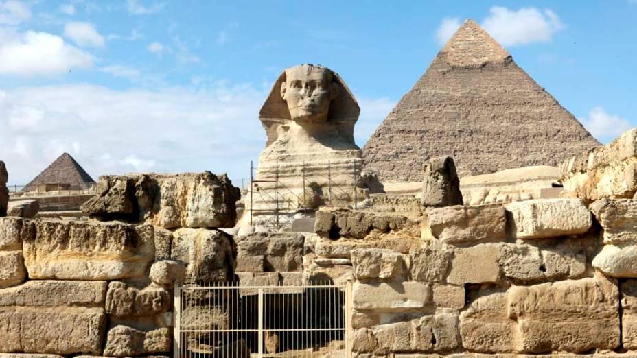 Pirâmides de Gizé no Cairo. O local sofre com a falta de turistas desde o começo dos protestos no Egito