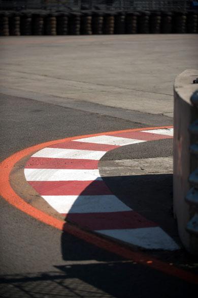 Detalhe da pista da Indy 300, no Anhembi