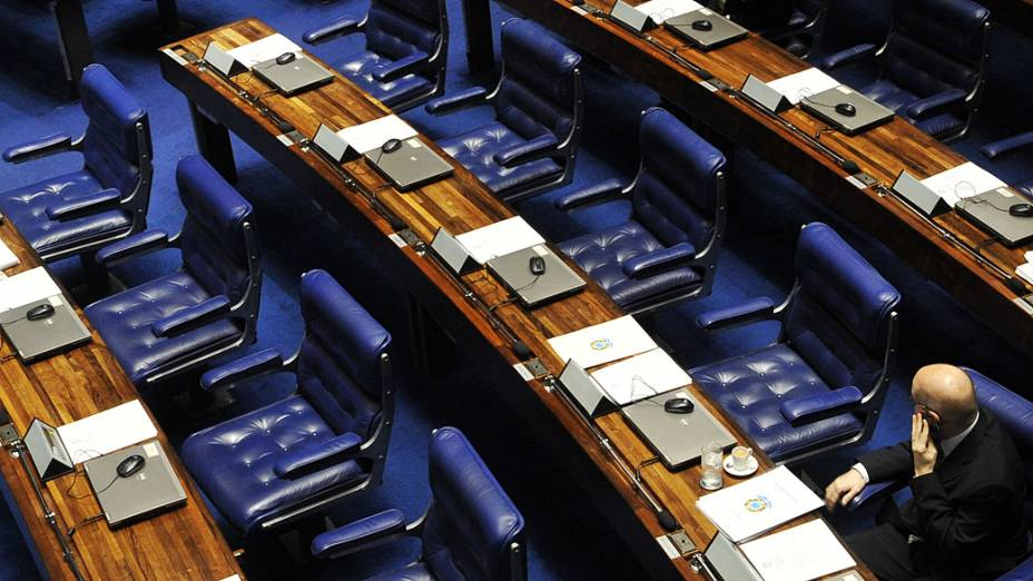 Senador Demóstenes Torres na votação da cassação do seu mandato