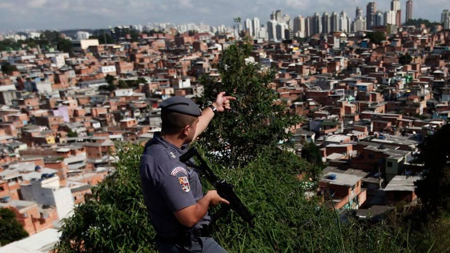 Operação policial na favela Paraisópolis, em São Paulo