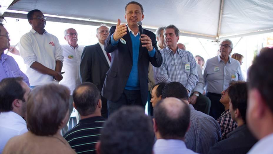 O candidato do PSB à Presidência da República, Eduardo Campos, inaugou no último dia 22, o espaço político Coragem Para Mudar o Brasil, em Limeira, no interior de São Paulo