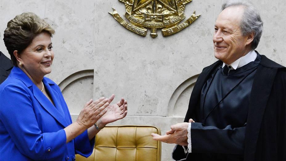 A presidente Dilma Rousseff comparece à cerimônia de posse do novo presidente do STF, o ministro Ricardo Lewandowski - 10/09/2014
