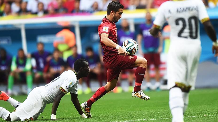 Lance no jogo entre Portugal e Gana no Mané Garrincha, em Brasília