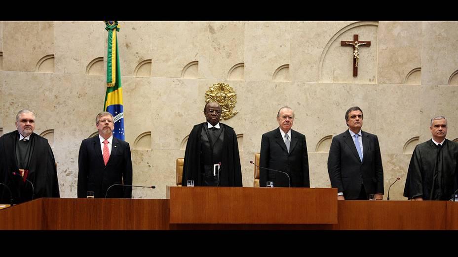 Início da solenidade de posse do novo ministro do STF, Teori Zavascki
