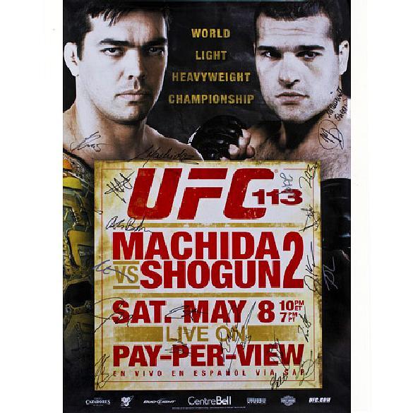 Pôster Autografado - UFC 113 Lyoto Machida VS Shogun 299,00 reais