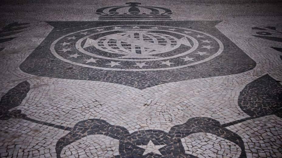 Detalhe do chão da Praça Tiradentes, Rio de Janeiro