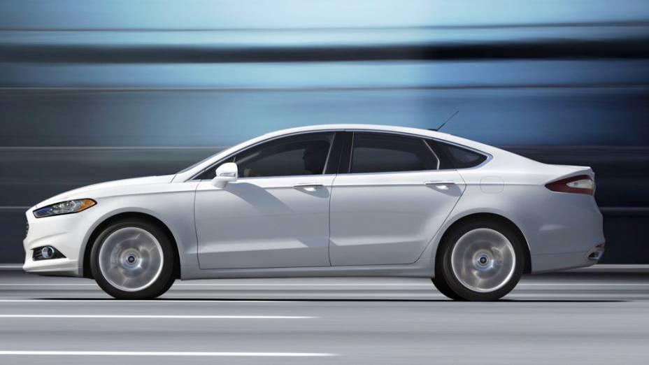 No mundo, o branco lidera, cobrindo 22% dos carros produzidos em 2012, incluindo este Ford Fusion. Na América do Norte e na Europa, a cor encabeça a lista com 21%