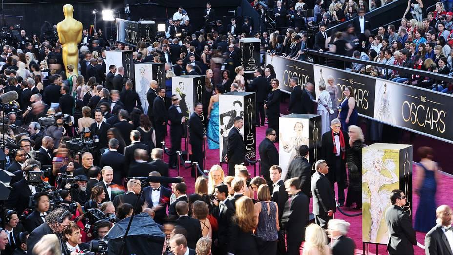 Chegada das estrelas no tapete vermelho para o Oscar 2013