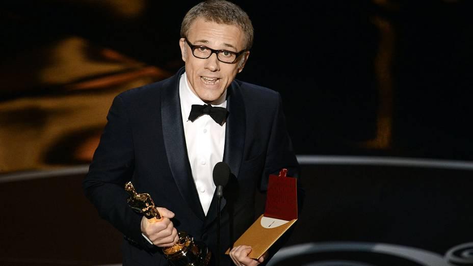 Christoph Waltz vence o Oscar de melhor ator coadjuvante 2013