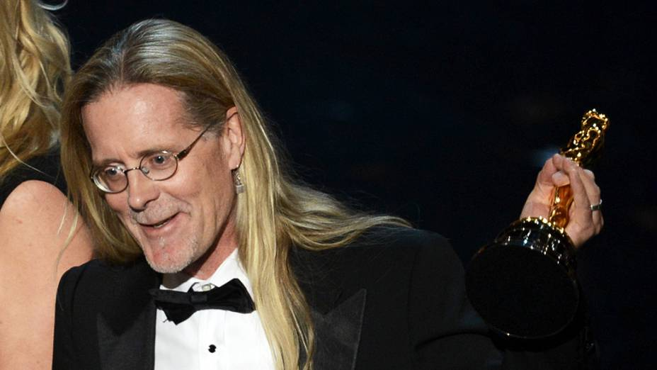 Per Hallberg recebe Oscar de Melhor edição de som por Skyfall durante premiação da academia