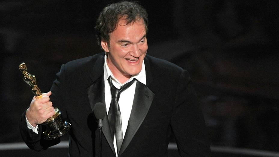 Quentin Tarantino recebe Oscar de melhor roteiro original