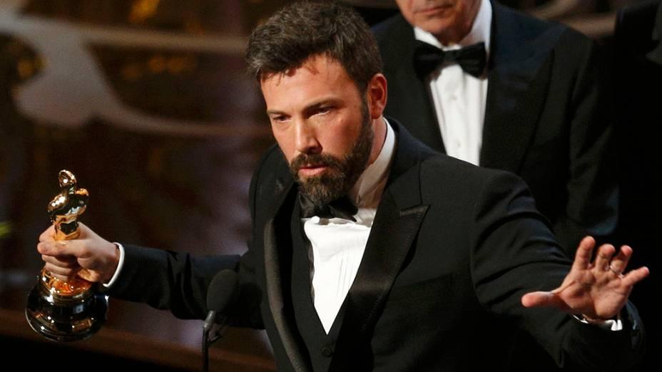 Argo, de Ben Affleck, leva o Oscar de Melhor Filme durante a cerimônia de entrega do Oscar, no Teatro Dolby, em Los Angeles<br>