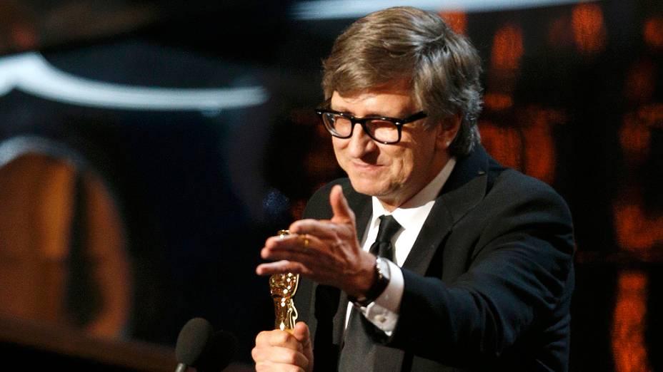 Rick Carter recebe Oscar de Design de Produção por Lincoln, durante cerimônia
