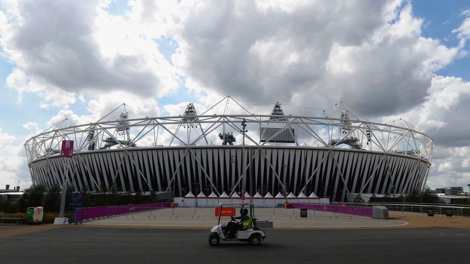 O Parque Olímpico de Londres é preparado para o início dos Jogos Paralímpicos, que serão abertos no dia 29 de agosto