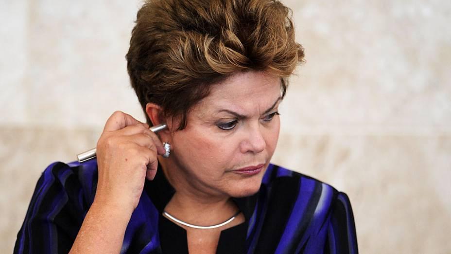 Presidente Dilma Rousseff, na 40ª reunião do Conselho de Desenvolvimento Econômico e Social (CDES)