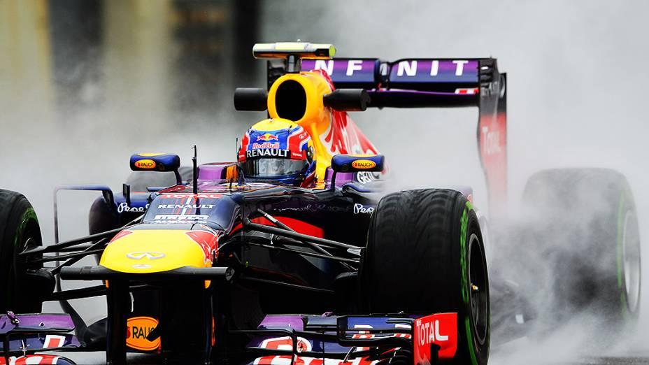 O piloto Mark Webber durante treino livre