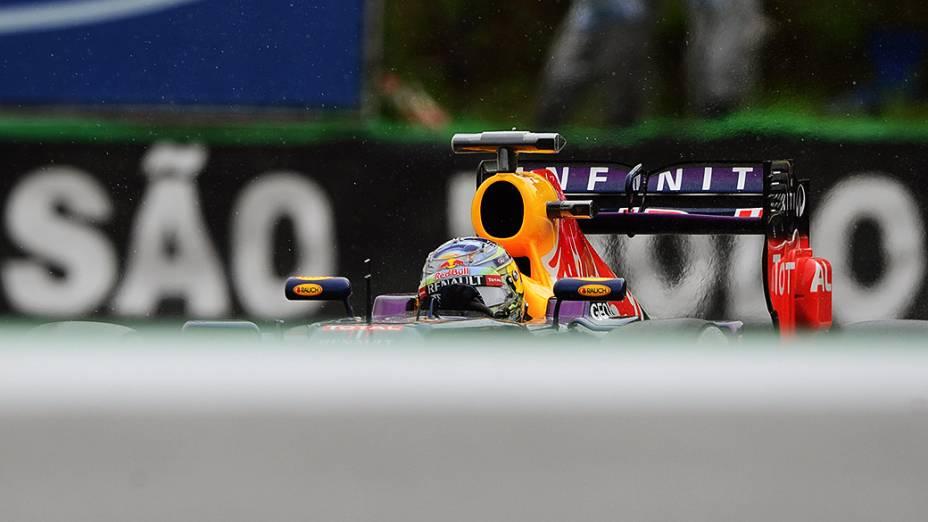 Vettel no circuito de Intelagos, em São Paulo