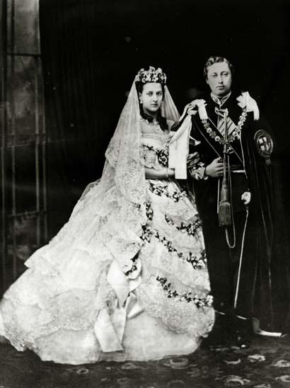 1863 - Princesa Alexandra (1844-1925) e príncipe Edward (1841-1910)