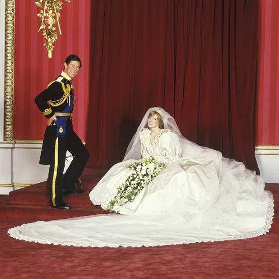 1981 - Príncipe Charles no dia do casamento com a princesa Diana (1961 - 1997)