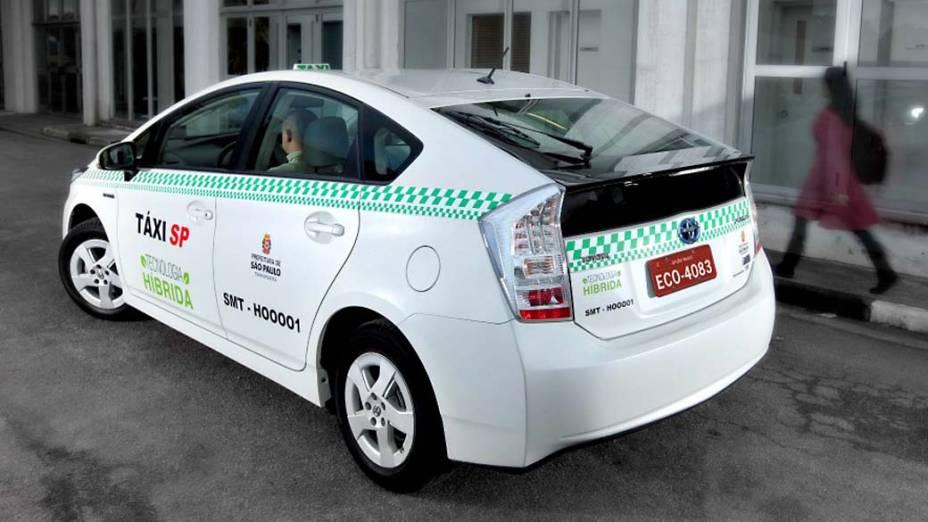 Prius, da Toyota, usado como táxi em São Paulo