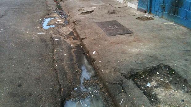 Calçada da Rua Santa Ifigência, em São Paulo. Uma prova de obstáculos para cadeirantes