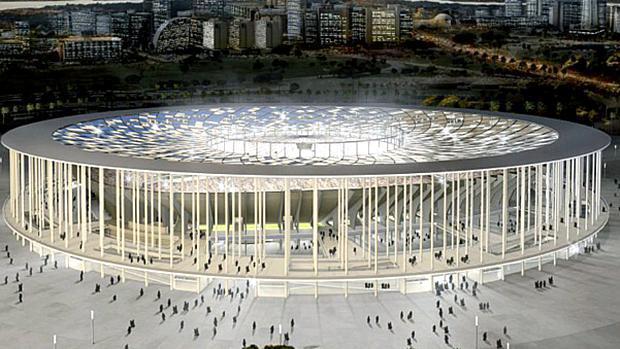 Projeto do estádio de Brasília - Mané Garrincha - para a Copa de 2014, no Brasil