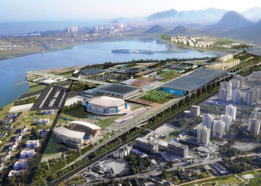 O projeto do Rio-2016: vista aérea simulada de uma das propostas