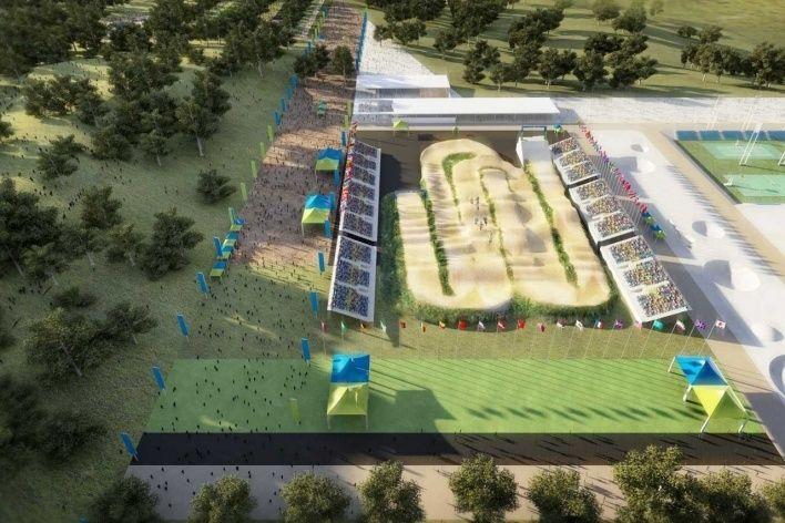 O projeto do Rio-2016: local de competição de BMX