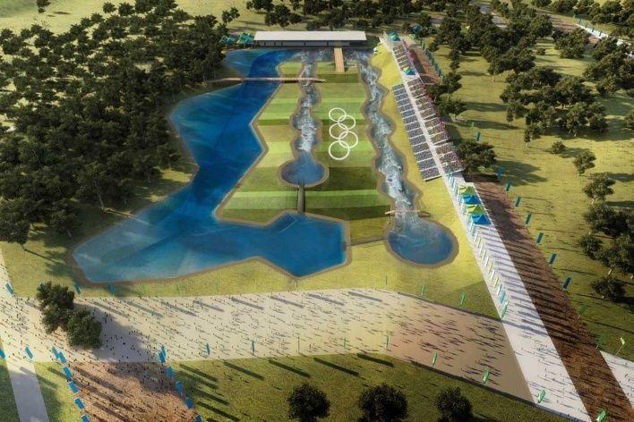 O projeto do Rio-2016: local de competição de canoagem