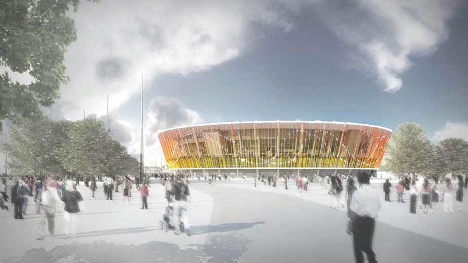 Projeto do centro de tênis para os Jogos do Rio-2016