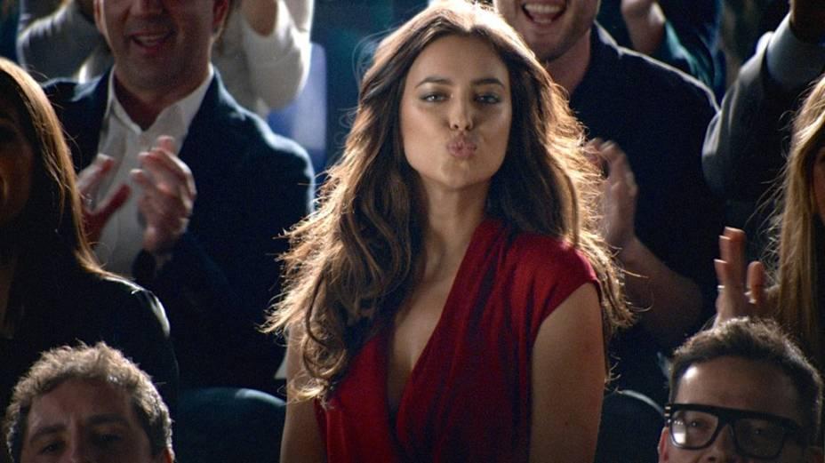 Irina Shayk, namorada de Cristiano Ronaldo, em anúncio da Nike para a Copa do Mundo
