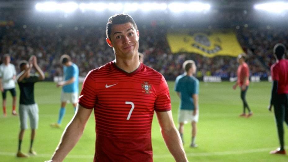 Cristiano Ronaldo em anúncio da Nike para a Copa do Mundo
