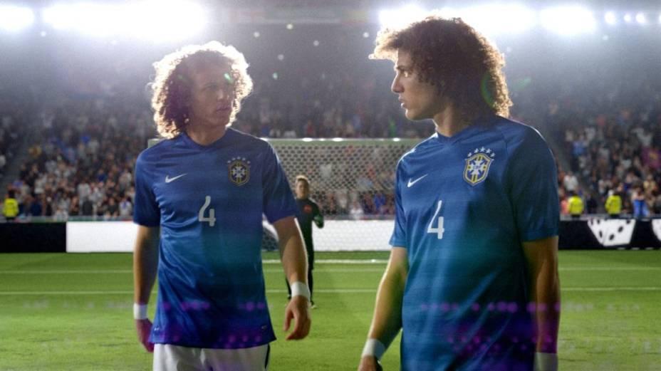 David Luiz (e seu clone) em anúncio da Nike para a Copa do Mundo