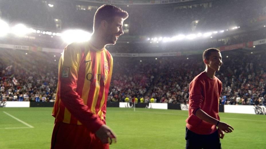 O zagueiro espanhol Piqué em anúncio da Nike para a Copa do Mundo