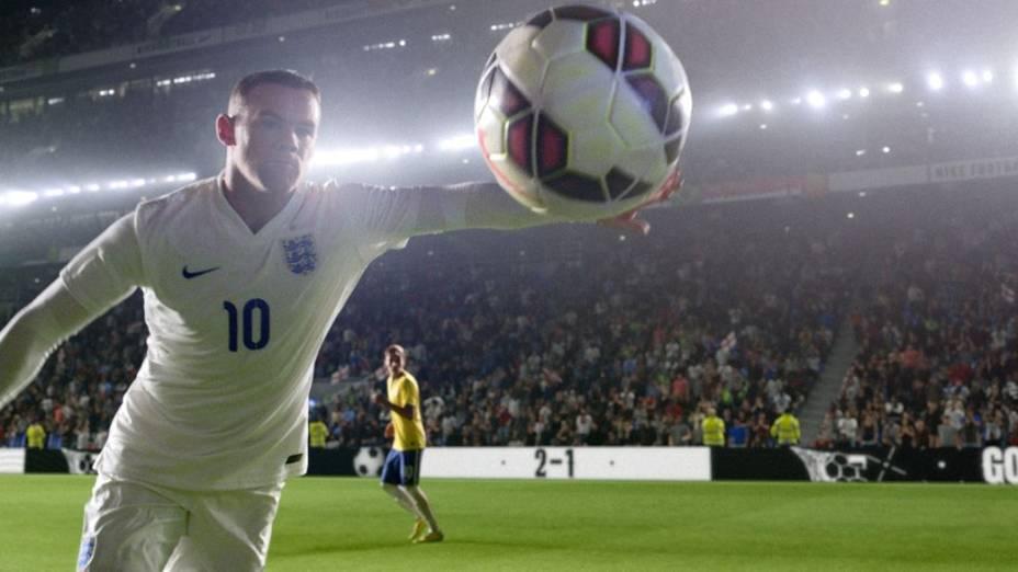 Rooney e Neymar em anúncio da Nike para a Copa do Mundo