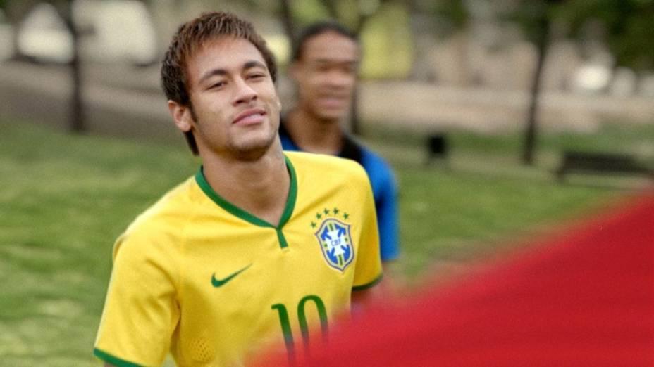 Neymar na campanha da Nike para a Copa do Mundo