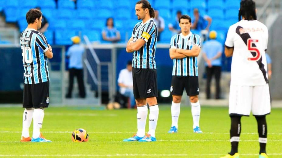 Protesto dos jogadores por mudanças no futebol brasileiro: Grêmio x Vasco