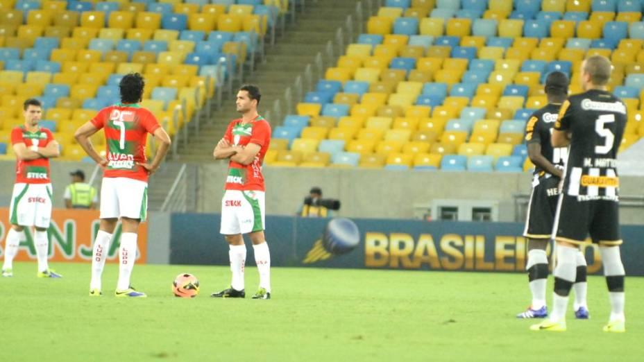 Protesto dos jogadores por mudanças no futebol brasileiro: Botafogo x Portuguesa