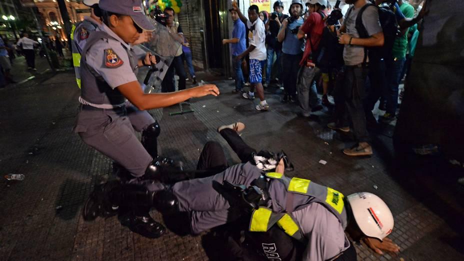 Protesto anti-Copa, na região central de São Paulo
