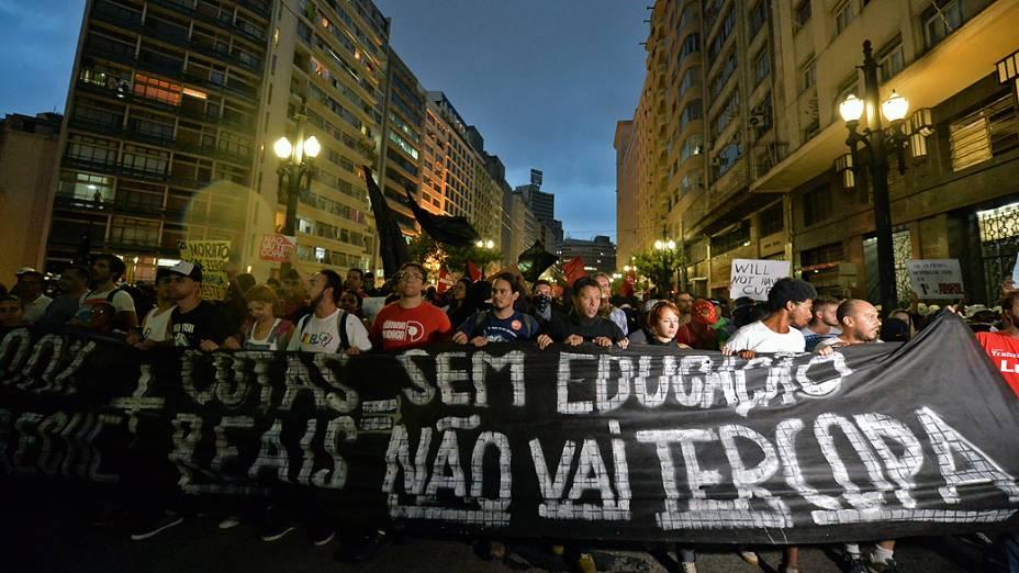 Em São Paulo, protesto contra a Copa do Mundo 2014