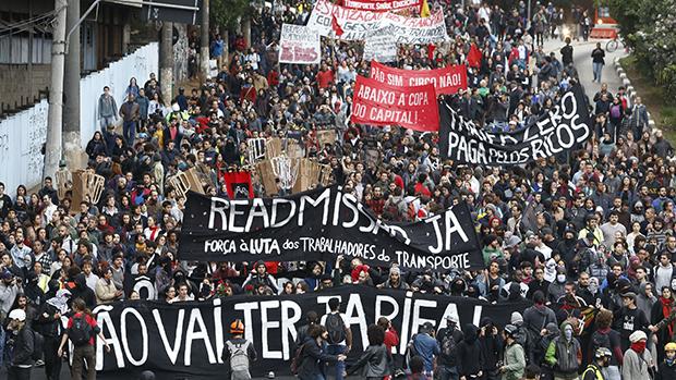 Manifestação do MPL, em São Paulo. O protesto acabou em quebra-quebra na última quinta-feira (19/06)