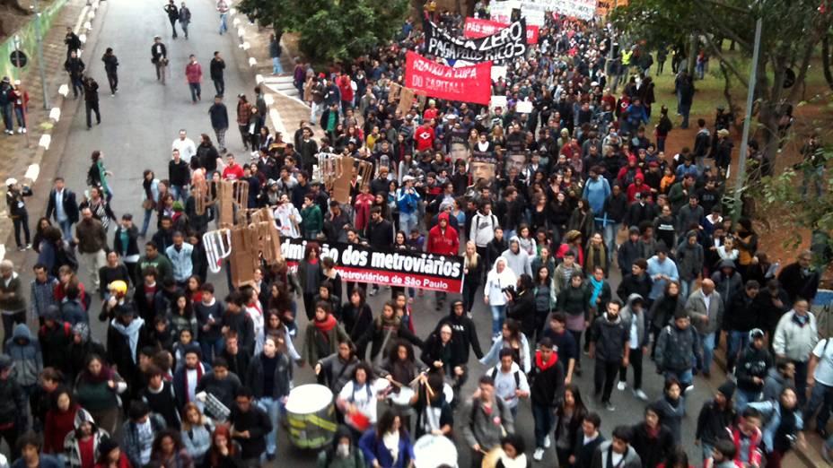 Protesto do Movimento Passe Livre na região da Avenida Paulista