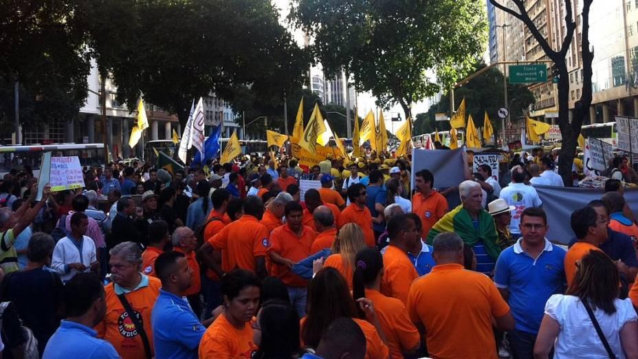 Protesto no Rio: centrais sindicais convocaram o protesto desta quinta (11/7) no Centro