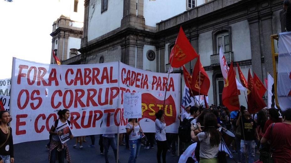Protesto no Rio: filiados a partidos se unem a centrais sindicais no ato desta quinta (11/7)