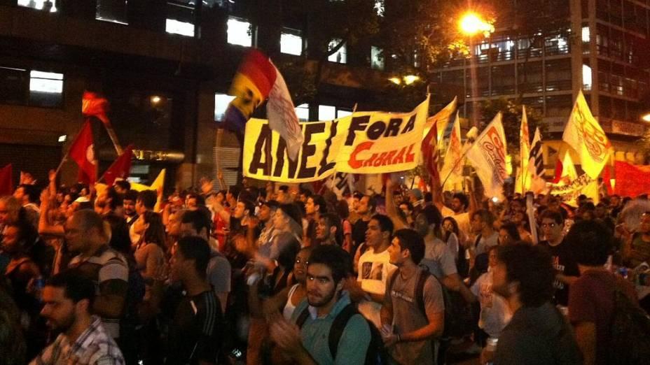 Protesto no Rio: manifestantes caminharam pacificamente pelo Centro nesta quinta (27/6)