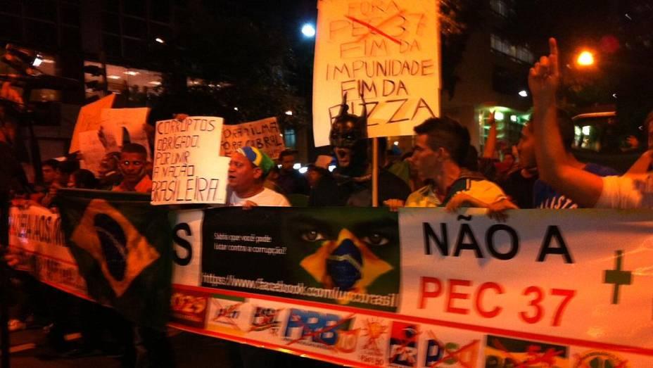 Protesto no Rio: manifestantes rechaçam a presença de partidos no ato desta segunda (24/6)