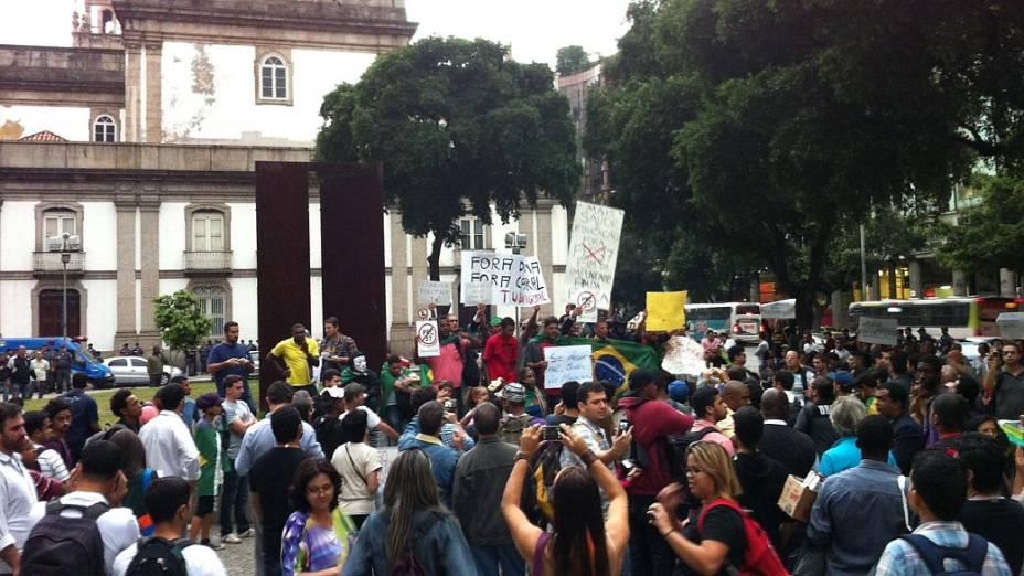Protesto no Rio: manifestantes se concentram na Candelária para novo protesto nesta segunda (24/6)