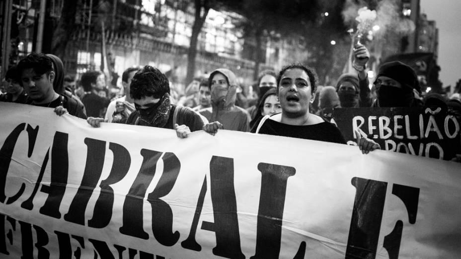 Protesto de professores no Rio de Janeiro