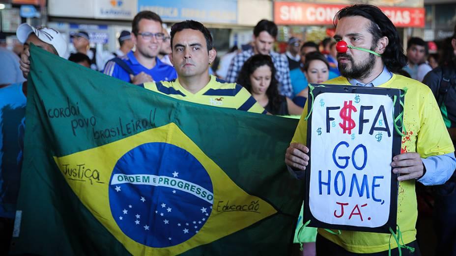 Prostestos contra a Copa em Brasília