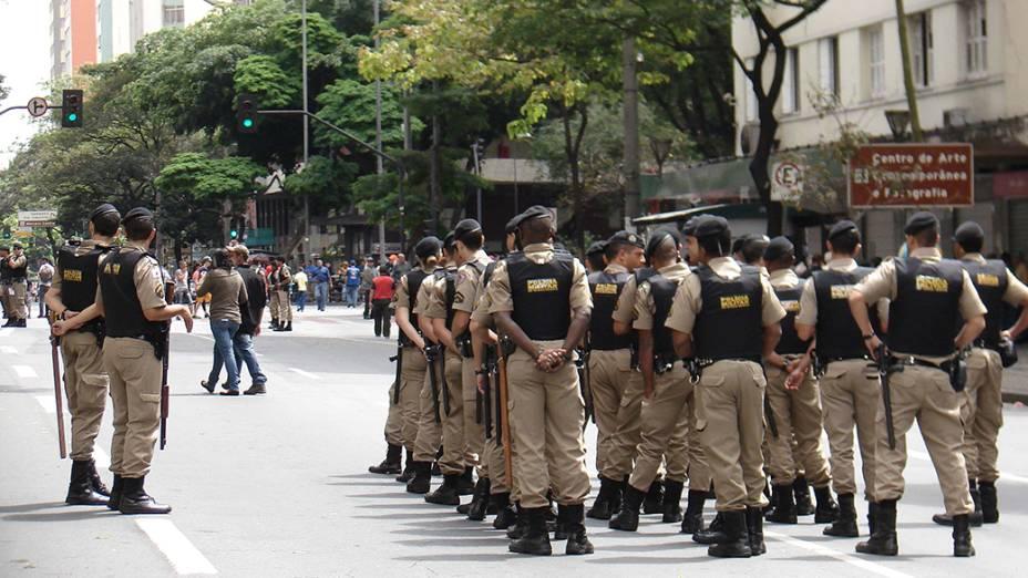 Protesto contra a Copa na cidade de Belo Horizonte